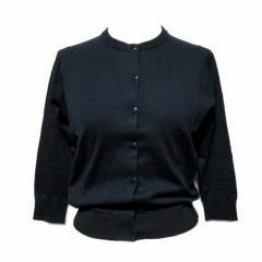 【新品】JOHN SMEDLEY Black Cotton cardigan ジョンスメドレー ブラック コットン カーディガン (黒) 067696