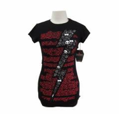 【新品】SKELANIMALS「M」Leopard skeleton T-shirt スケルアニマルズ レオパード ドクロ Tシャツ (スカル) 068383