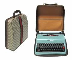 vintage old GUCCI×Olivetti ヴィンテージオールド グッチ×オリベッティー タイプライター モノグラムケース (バッグ) 069014【中古】