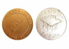 vintage EXPO75 ヴィンテージ 沖縄国際海洋博覧会 記念メダル 2セット (エキスポ ビンテージ) 070814