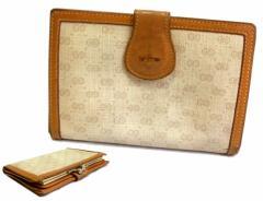 vintage old GUCCI ヴィンテージオールド グッチ イタリア製 マイクロモノグラム ウォレット・折財布 (ビンテージ) 071308