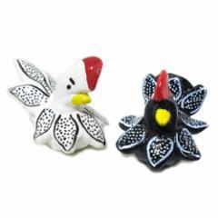【新品】Mate Tea Hand made Wood bird ornament マテ茶 ハンドメイド 陶器ガリニータス 白 黒 (ウッド オーナメント)■