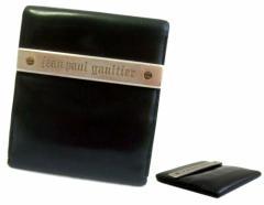 難有 [SALE] 廃盤 Jean Paul GAULTIER ジャンポールゴルチエ メタルプレートレザーウォレット 折財布 (ゴルチェ) 072365