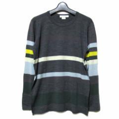JOHN SMEDLEY「M」Multi-boder knit・sweater ジョンスメドレー マルチボーダーニット・セーター (メンズ)■