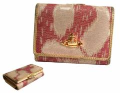Vivienne Westwood ヴィヴィアンウエストウッド イタリア製 レオパードウォレット 折財布 (ビビアン) 073349【中古】