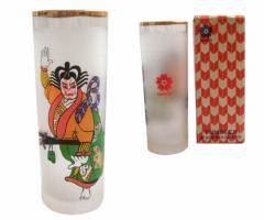 Vintage EXPO 70 エキスポ 70 大阪万博 歌舞伎 グラス (コップ 歌舞伎 浮世絵) 073361
