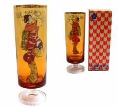 Vintage EXPO 70 エキスポ 70 大阪万博 錦絵 アンバーグラス (コップ 歌舞伎 浮世絵 アデリア) 073362