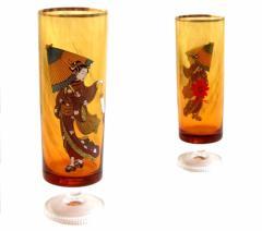 Vintage EXPO 70 エキスポ 70 大阪万博 浮世絵 浮世絵 アンバーグラス (コップ 歌舞伎 浮世絵 アデリア) 073374