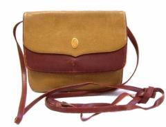 Vintage old Cartier ヴィンテージ オールド カルティエ イタリア製 マストドゥカルティエレザーショルダーバッグ (カルチェ) 074021