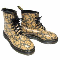 新品同様 廃盤 vitage Dr.Martens ドクターマーチン 英国製 8ホール ローズパターン レザーブーツ (靴シューズ) 074691