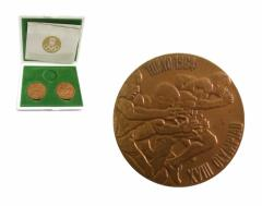 vintage 1964 TOKYO OLYMPIC 東京オリンピック 記念銅メダル 2枚セット (亀倉雄策 ヴィンテージ ビンテージ) 075624