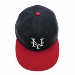【新品】COOPERSTOWN BALL CAP CO. クーパーズタウン ボールキャップ 紺×赤 ニューヨークキューバンズ (NYCC44 3inch Visor) 076040