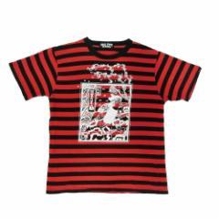 SEX POT ReVeNGe セックスポット リベンジ「M」浮世絵ペイント ボーダーTシャツ (半袖カットソー) 076357