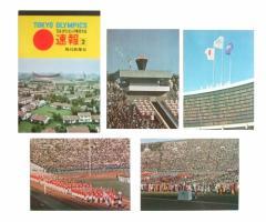 vintage 1964 TOKYO OLYMPIC 東京オリンピック 速報2 毎日新聞社 ポストカード4枚セット (絵ハガキ ヴィンテージ ビンテージ) 076757