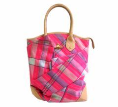 新品同様 廃盤 Vivienne Westwood ヴィヴィアンウエストウッド イタリア製 タータンチェックトートバッグ (ビビアン 鞄) 077495