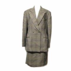ETRO ITALY エトロ「44」イタリア製 クラシックチェックセットアップスーツ (スカート ジャケット) 078049