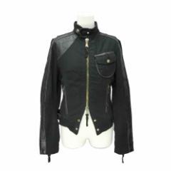 Cook jeans クックジーンズ「S」スタッズクロス パンク ライダースジャケット (十字架鋲 レザーアレンジ ブルゾン) 078165