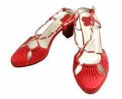 ANNA SUI アナスイ「3」レザーヒールサンダル (靴シューズ) 078306【中古】