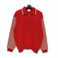 80s vintage TAKEO KIKUCHI タケオキクチ「3」80年代ヴィンテージ ジップ プルオーバー セーター (ニット ポロシャツ) 078326