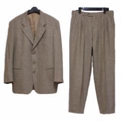 美品 G.B.Fontana ジービーフォンタナ「50」イタリア製 ツィード セットアップスーツ (ジャケット パンツ) 078687