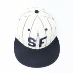 【新品】COOPERSTOWN BALL CAP CO. クーパーズタウン ボールキャップ 白×紺 サンフランシスコシールズ (SFP46 3H) 078927