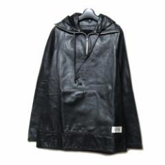 20471120 トゥーオーフォーセブンワンワントゥーオー「M」プルオーバーレザージャケット (トライベンティー ブルゾン 革 皮) 079904
