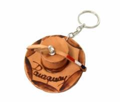 【新品】Paraguay handmade パラグアイ ハンドメイド レザーハットキーリング (Mate tea マテ茶 帽子 キーホルダー) 080668