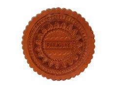 【新品】Paraguay handmade パラグアイ ハンドメイド レザーパンコースター・鍋しき (Mate tea マテ茶 キー) 080673