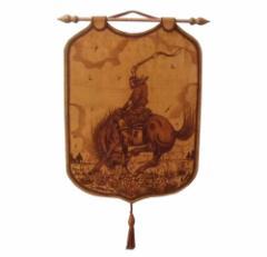 【新品】Paraguay handmade パラグアイハンドメイド クラシックレザー壁掛け (マテ茶 Mate tea) 080836
