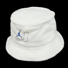 デッドストック NIKE AIR JORDAN ナイキ エアジョーダン「M/L」白 ジャンプマンロゴ J ハット (帽子 キャップ) 081239