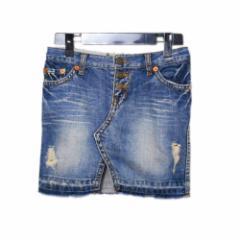 美品 Luv diva Jeans ラブディーバ「S」パンツ解体 クラッシュデニム スカート (ジーンズ) 081704