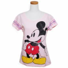 Disney ディズニー「L」クラシック ミッキーマウス Tシャツ (半袖カットソー) 081710【中古】