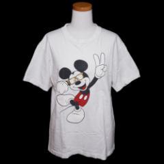 完売 ROIAL×Disney ロイアル×ディズニー「M」ミッキー 眼鏡Tシャツ (半袖カットソー) 081714