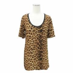 難有 [SALE] Luxury Black ラグジュアリーブラック「1」レオパード 半袖カットソー (Tシャツ) 081878