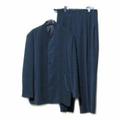 80s Vintage 80年代 ヴィンテージ アバンギャルド「L」マオカラーセットアップスーツ (羽島後藤 ジャケット 日本製) 083344