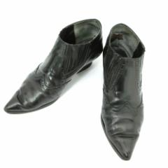 廃盤 Jean Paul GAULTIER ジャンポールゴルチエ「3」ウエスタンレザーブーツ (ゴルチェ 靴シューズ) 084957