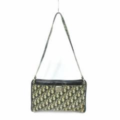 vintage old Christian Dior ヴィンテージオールド クリスチャンディオール トロッターモノグラム ショルダーバッグ (鞄カバン) 085114