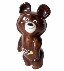 vintage 1980 MOSCOW OLYMPIC モスクワオリンピック MISHA こぐまのミーシャ 陶器製人形 (ソ連 五輪 フィギュア ヴィンテージ) 087623