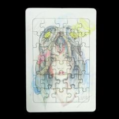 【新品】Yohji Yamamoto Ground Y ヨウジヤマモト グラウンド ワイ 笹田靖人 GIRL アートパズルカード (山本耀司 Ys ワイズ) 087971