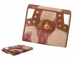Vivienne Westwood ヴィヴィアンウエストウッド イタリア製 レオパードウォレット・折財布 (braccialini ブラッチャリーニ) 088024