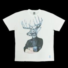 新品同様 UNIQLO PARIS×colette ユニクロ パリ×コレット「M」アート トナカイ Tシャツ (Alexandra Compain Tissier) 088475