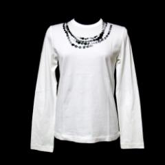 新品同様 COMME des GARCONS COMME des GARCONS コムデギャルソン コムデギャルソン「S」装飾プリントロングスリーブTシャツ 089171