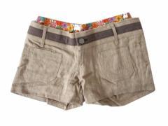 MASH MANIA Double-waist shorts マッシュマニア ダブルウエストハーフパンツ (ショートパンツ・ホットパンツ ミッシュマッシュ)■税抜