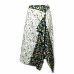 Vivienne Westwood ヴィヴィアンウエストウッド「2」アシンメトリーフラワーキルトスカート (RED LEBEL レッドレーベル) 089842