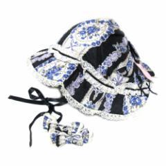 【新品】Metamorphose メタモルフォーゼ 宮廷フラワーボンネットハット リボン付 (帽子 ヘッドドレス) 090286