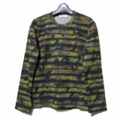 新品同様 COMME des GARCONS 2011 コムデギャルソン「S」カモフラージュコーティングロングスリーブTシャツ 090309