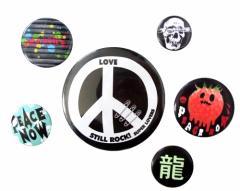 SUPER LOVERS+PEACE NOW+Alice Age スーパーラバーズ+ピースナウ+アリスエイジ パンク缶バッジ 6個セット (バッチ) 091098
