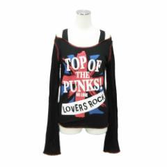 SUPER LOVERS スーパーラヴァーズ「M」ブラックロンドンパンツTシャツ (黒) 091610