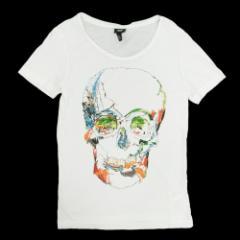 H&M エイチアンドエム「XS」ドクロ Tシャツ (スカル) 091630