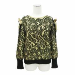 80s Vintage AZ-ROBE 80年代 ヴィンテージ エーゼット ローブ「M」金糸刺繍 ニット・セーター 092009
